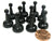 Set of 10 Standard Pawns 25mm Peg Pieces for Board Game Play - Black