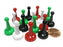 Set of 16 Standard Pawns 25mm - 4 Each of Green White Red Black