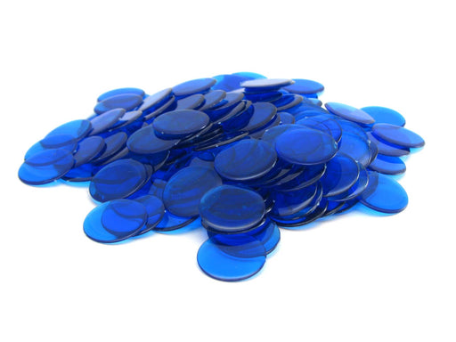 Bag of 250 Plastic 19mm Round Sorting Chip Gaming Accessory - Blue