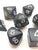 Jumbo Polyhedral 7-Die Koplow Games Dice Set 23mm-28mm- Black with White Numbers
