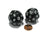 Set of 2 Triantakohedron D30 30 Sided 33mm Jumbo Dice - Black w White Numbers