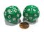 Set of 2 Triantakohedron D30 30 Sided 33mm Jumbo Dice - Green w White Numbers