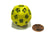 Triantakohedron D30 30 Sided 33mm Jumbo RPG Gaming Dice - Yellow w Black Number