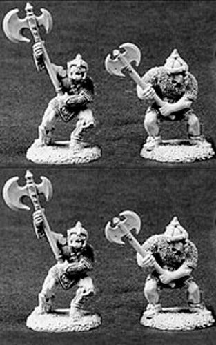 Reaper Miniatures Orcs W/2H Weapons 4 Pcs #06027 Dark Heaven Legends Army Packs