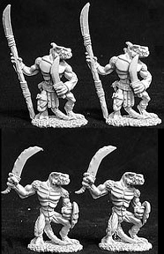 Reaper Miniatures Lizardmen Warriors 4 Pcs #06057 Dark Heaven Legends Army Packs