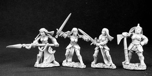 Reaper Miniatures Battle Nuns and Mother Superior #06062 Warlord Army Unpainted