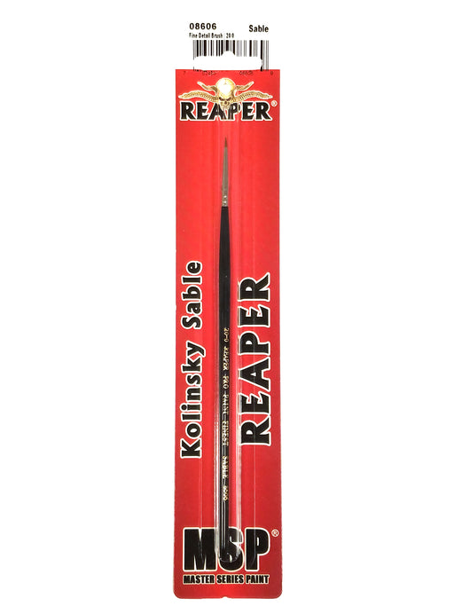 Reaper Miniatures Fine Detail Brush 20/0 #08606 Paint Brush for RPG D&D Figures