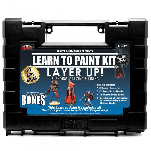 Reaper Miniatures Learn To Paint Kit 08907 Layer Up: Blending, Glazing, & Lining
