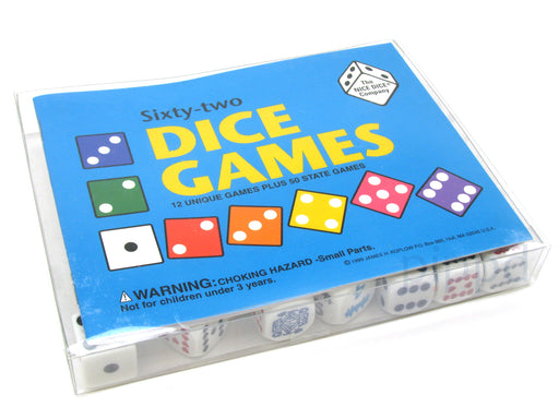 Sixty-two Dice Games Pack - Includes 20 Dice and an Instruction Booklet