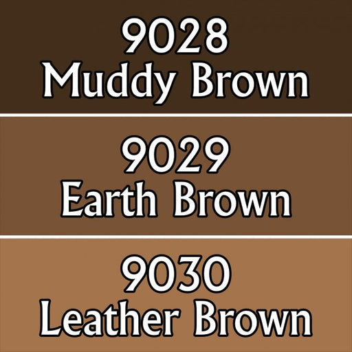 Reaper Miniatures Warm Deep Browns #09710 Master Series Triads 3 Pack .5oz Paint