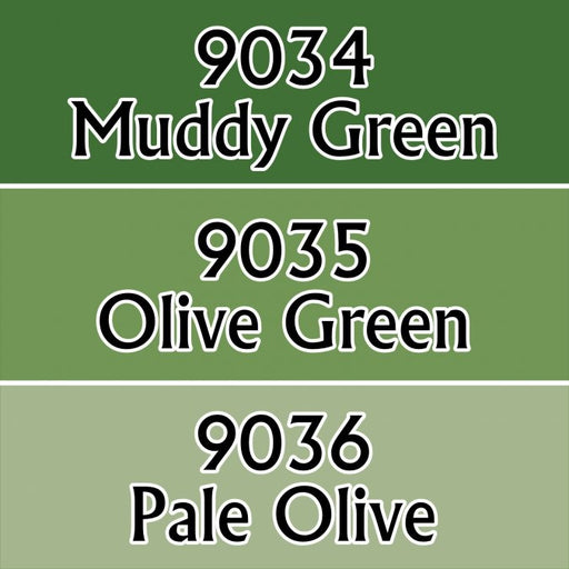 Reaper Miniatures Olive Greens #09712 Master Series Triads 3 Pack .5oz Paint