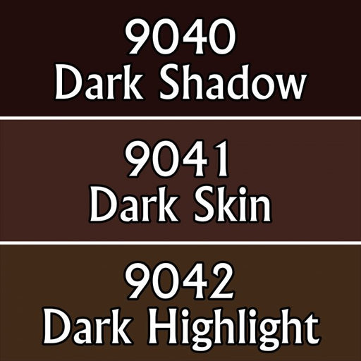 Reaper Miniatures Dark Skin Tones #09714 Master Series Triads 3 Pack .5oz Paint