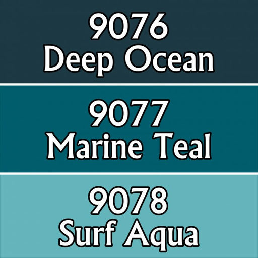 Reaper Miniatures Ocean Colors #09726 Master Series Triads 3 Pack .5oz Paint