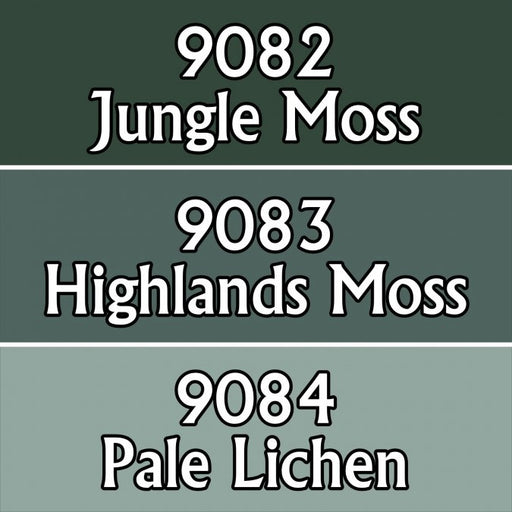 Reaper Miniatures Moss Colors #09728 Master Series Triads 3 Pack .5oz Paint