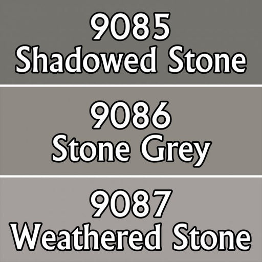 Reaper Miniatures Stone Colors #09729 Master Series Triads 3 Pack .5oz Paint