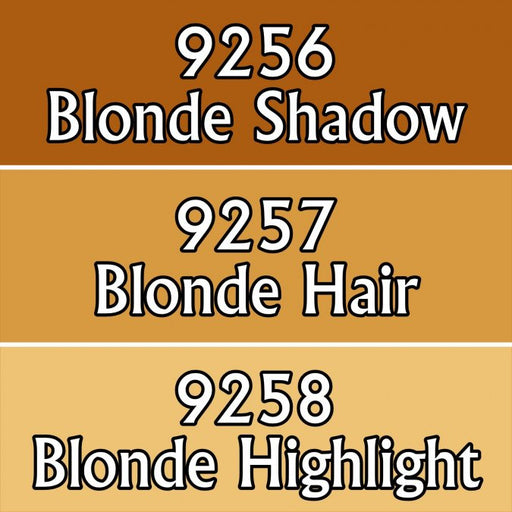 Reaper Miniatures Blonde Hair Triad 09786 Master Series Triads 3 Pack .5oz Paint