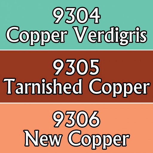 Reaper Miniatures Copper Colors #09802 Master Series Triads 3 Pack .5oz Paint