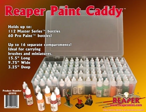 Reaper Miniatures Paint Caddy #09999 for up to 112 Master Series Bottles