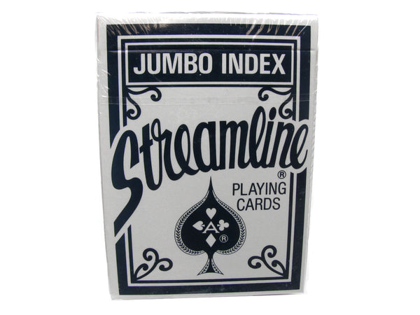 Streamline Jumbo Index Playing Cards - 1 Sealed Blue Deck