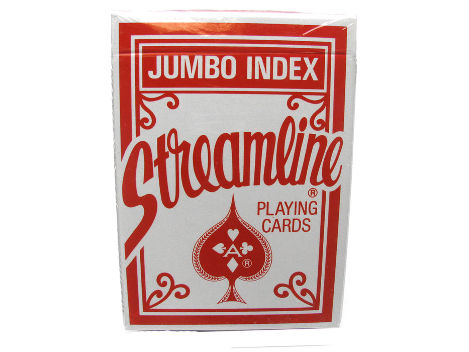Streamline Jumbo Index Playing Cards - 1 Sealed Red Deck