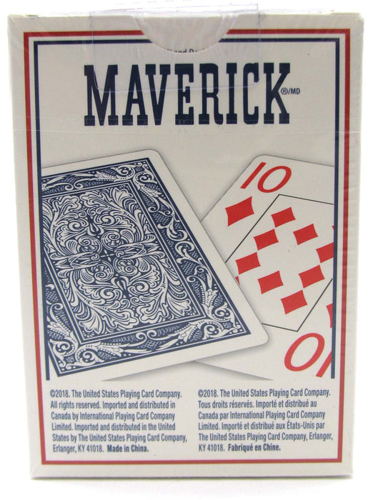 Maverick Jumbo Index Playing Cards - 1 Red Deck and 1 Blue Deck