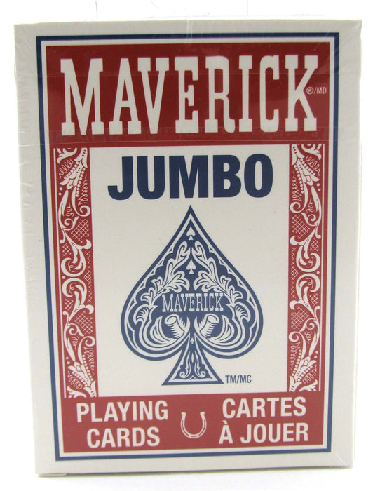 Maverick Jumbo Index Playing Cards - 1 Sealed Red Deck