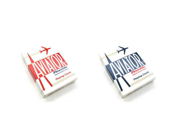 Aviator Pinochle Playing Cards - 1 Sealed Red Deck and 1 Sealed Blue Deck