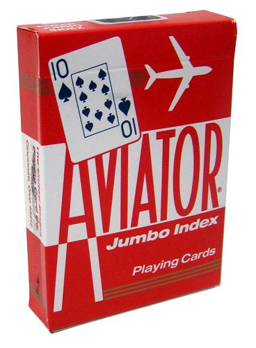 Aviator Jumbo Index Playing Cards - 1 Sealed Red Deck