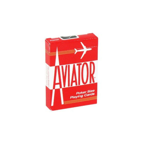 Aviator Standard Index Playing Cards - 1 Sealed Red Deck