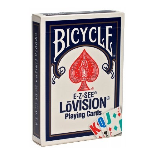 Bicycle EZ See Lo-Vision Easy to See Jumbo Index Playing Cards - Blue Deck