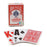 Bicycle EZ See Lo-Vision Easy to See Jumbo Index Playing Cards - Red Deck