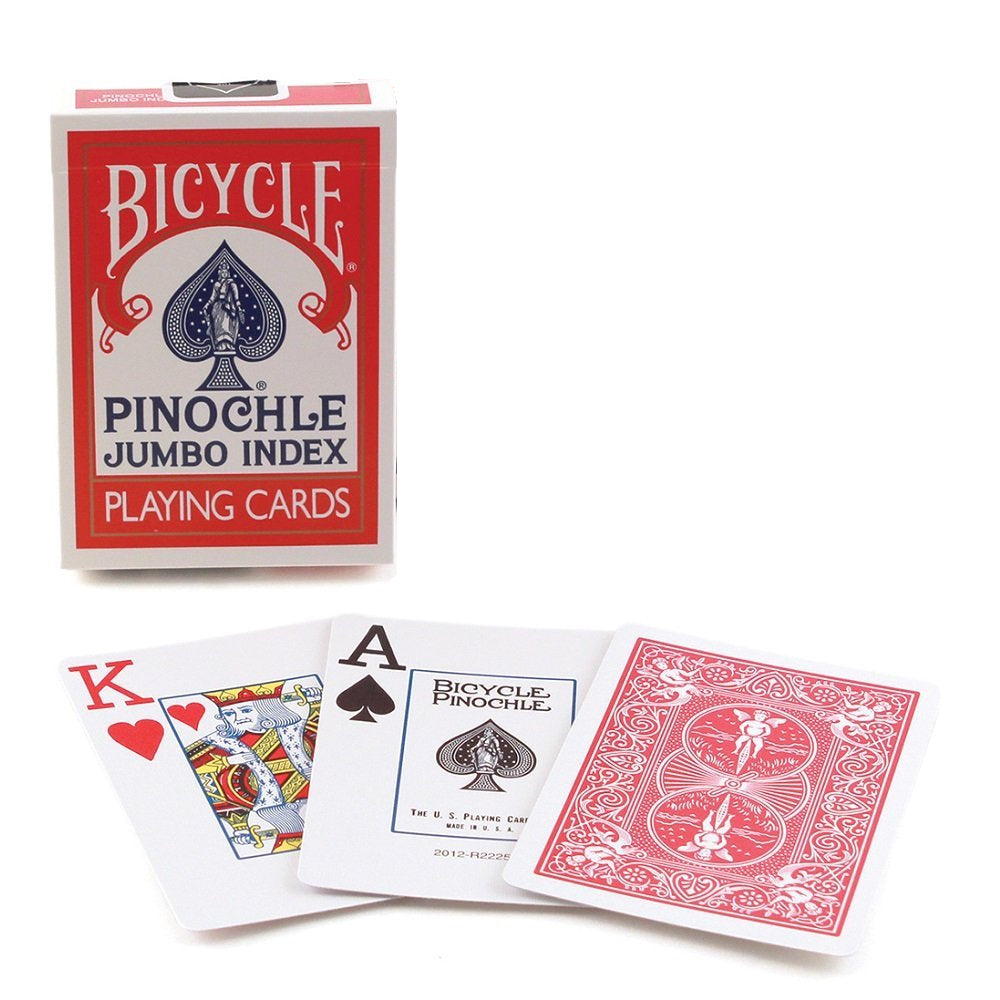 Bicycle Pinochle Jumbo Index Playing Cards - 1 Sealed Red Deck