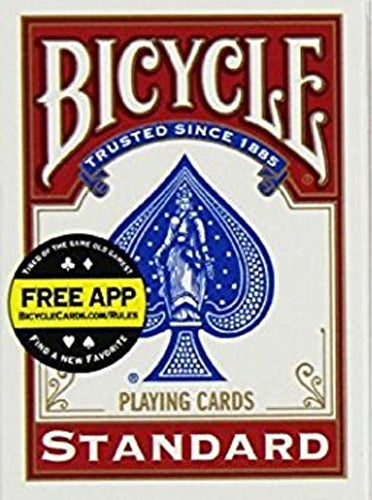 Bicycle Standard Index Poker Playing Cards - 1 Sealed Red Deck