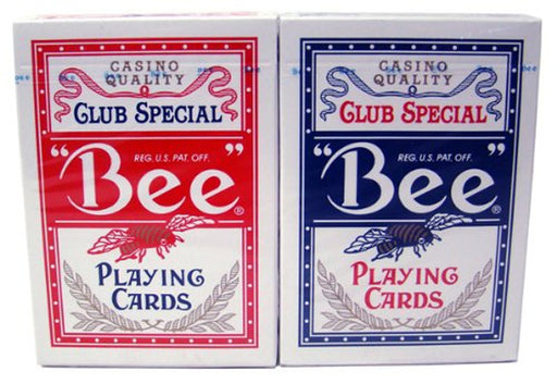 Bee No.92 Standard Index Poker Playing Cards - 1 Red and 1 Blue Deck