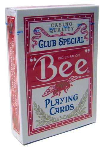 Bee No.92 Standard Index Poker Playing Cards - 1 Sealed Red Deck