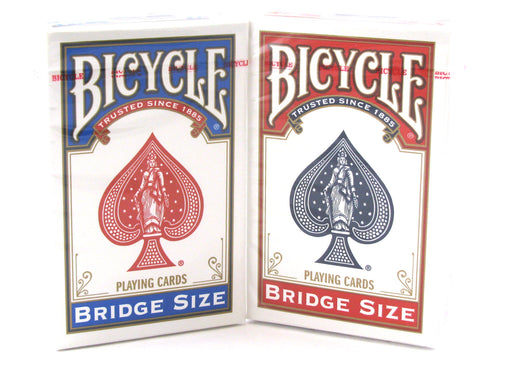 Bicycle Bridge Standard Index Playing Cards - 1 Red Deck and 1 Blue Deck