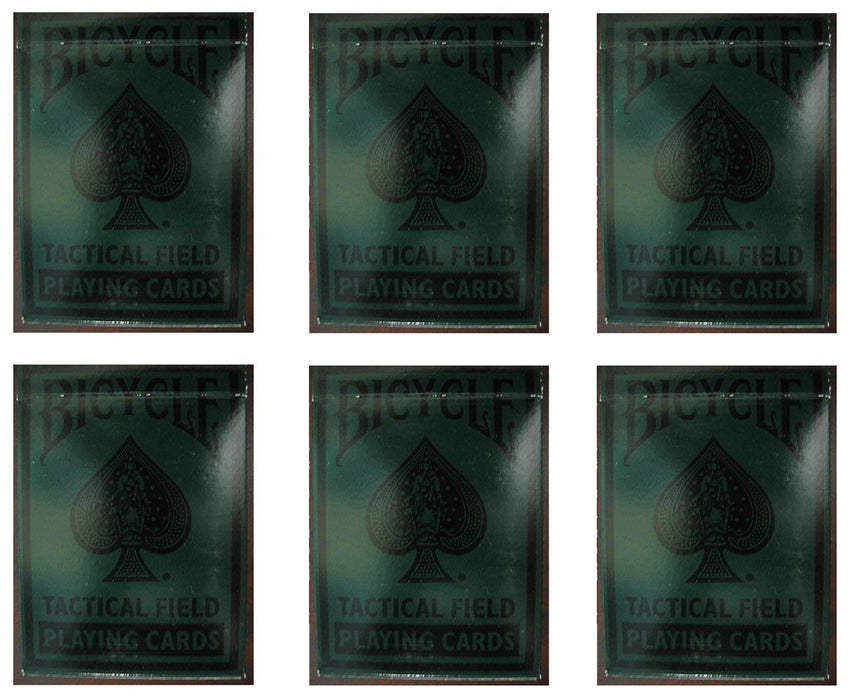 Bicycle Tactical Field Playing Cards - 6 Sealed Decks