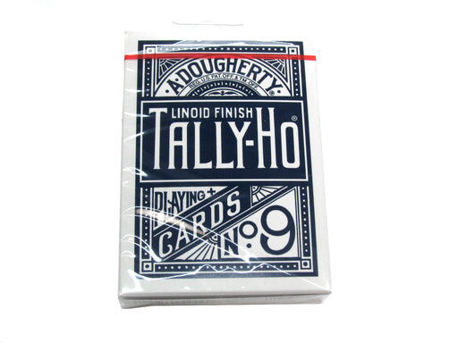 Tally-Ho Half Fan/Circle Playing Cards - 1 Sealed Blue Deck