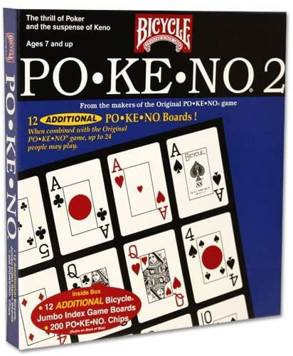Bicycle 12 Board Pokeno 2 ~ Po-Ke-No Too Card Game