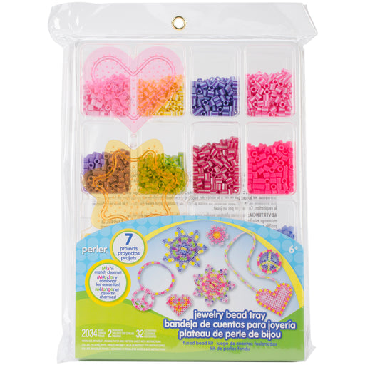 Perler Fused Bead Kit - Jewelry Bead Tray Edition #80-62874 2034 Beads Craft Art