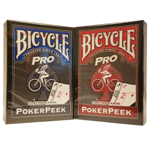 Bicycle Pro Poker Peek Playing Cards Deck - Choose Your Color
