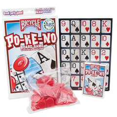 Bicycle 12 Board Pokeno Game with 200 Chips and Po-Ke-No Cards