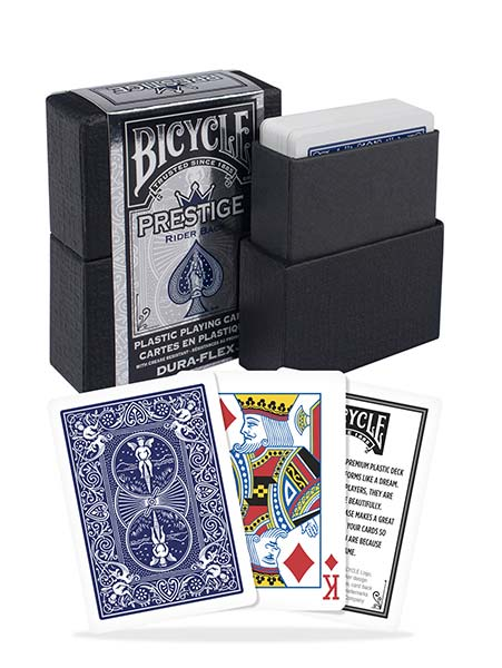 Bicycle Prestige Dura-Flex Plastic Playing Cards - 1 Sealed Blue Deck