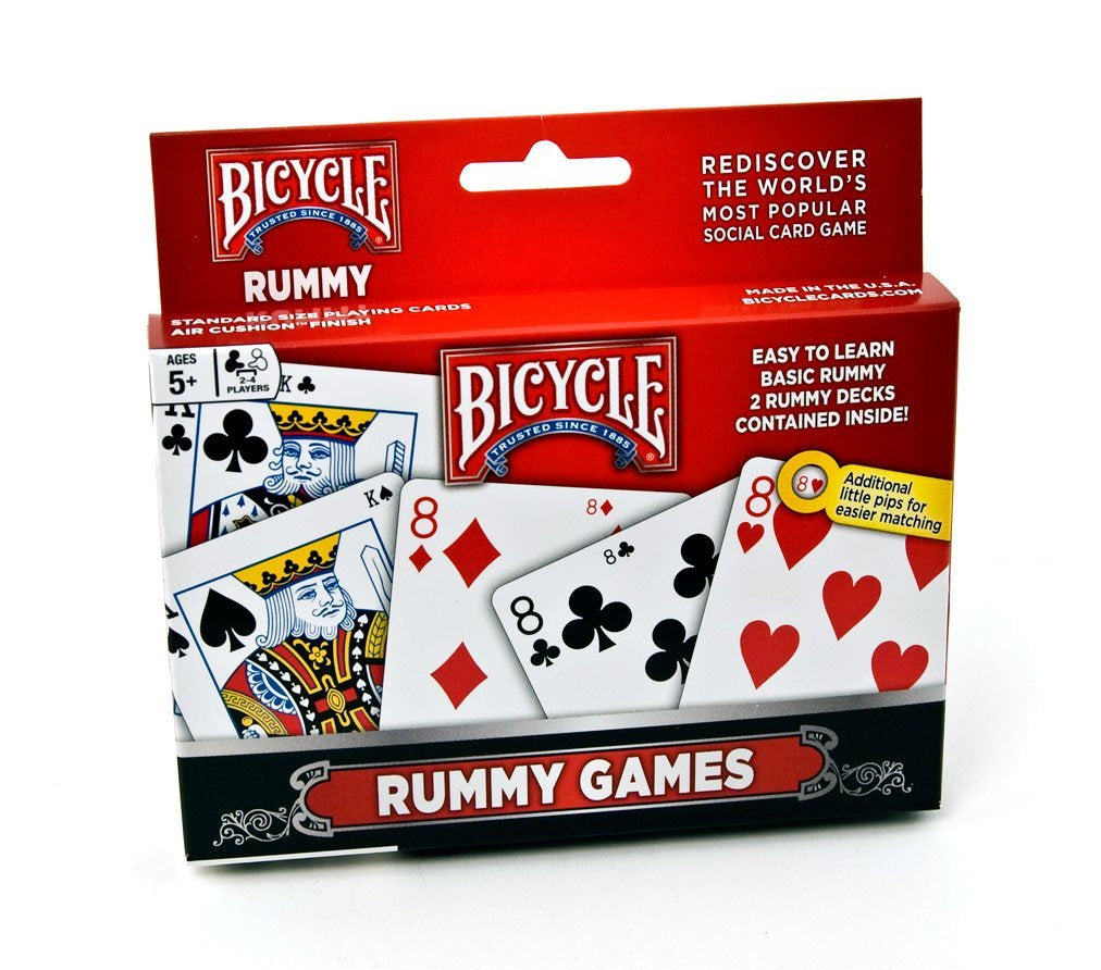 Bicycle Rummy Playing Cards Game Set - 2 Rummy Decks