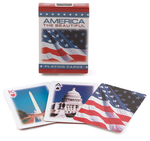 Bicycle America The Beautiful American Flag Standard Index Playing Cards-1 Deck