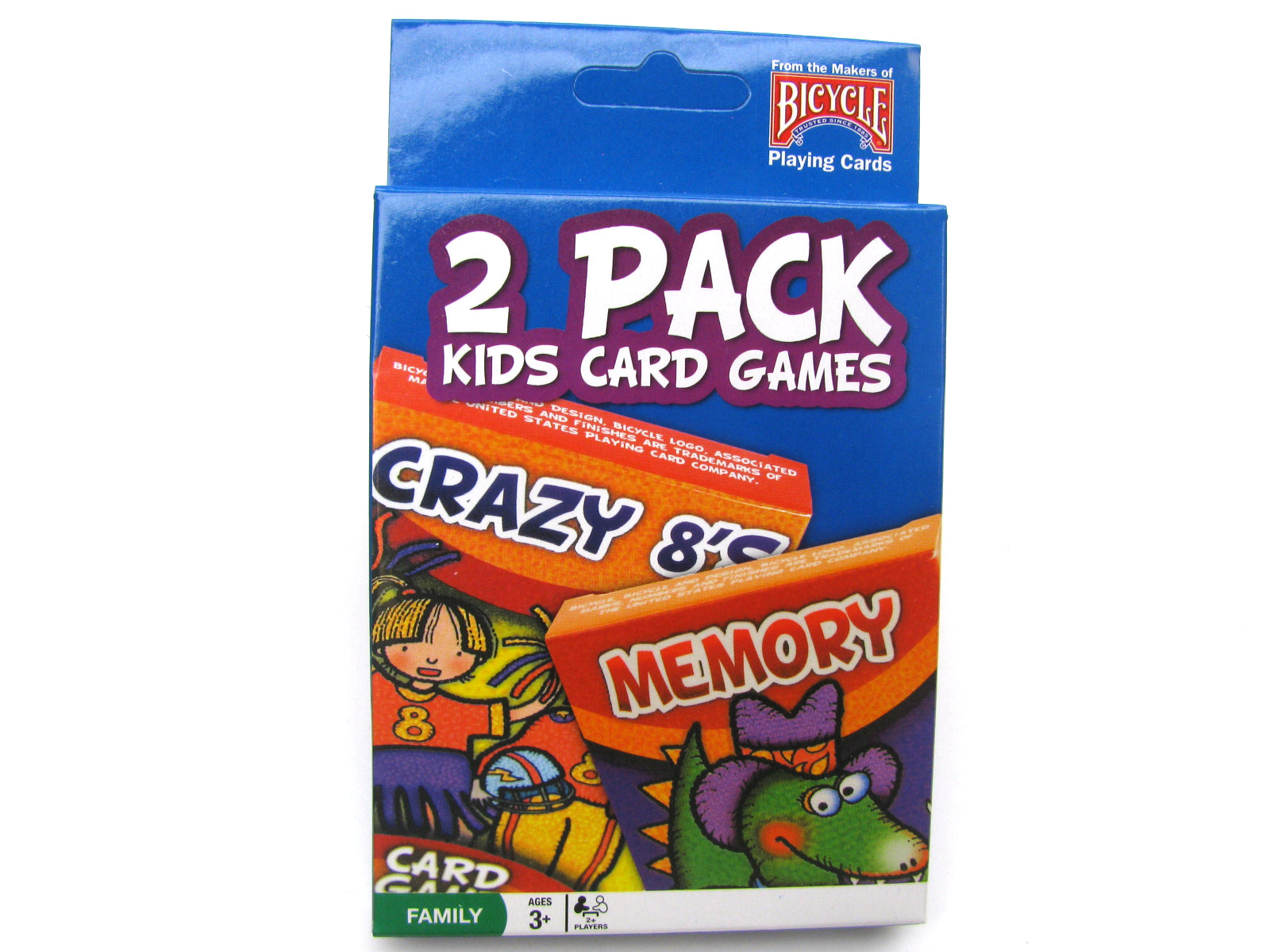 Bicycle Kids Games 2 Pack Playing Cards - Blue Pack with Crazy 8's and Memory