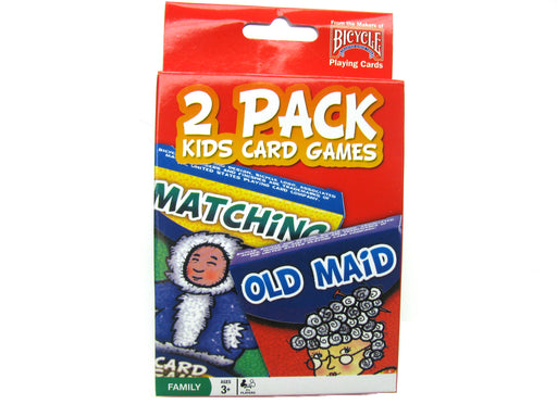 Bicycle Kids Games 2 Pack Playing Cards - Red Pack with Matching and Old Maid