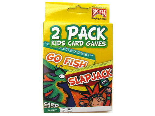 Bicycle Kids Games 2 Pack Playing Cards - Yellow Pack with Go Fish and Slapjack