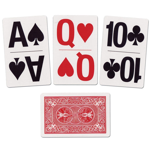 Bicycle Bridge Size Large Print Index Easy Viewing Playing Cards - 1 Red Deck
