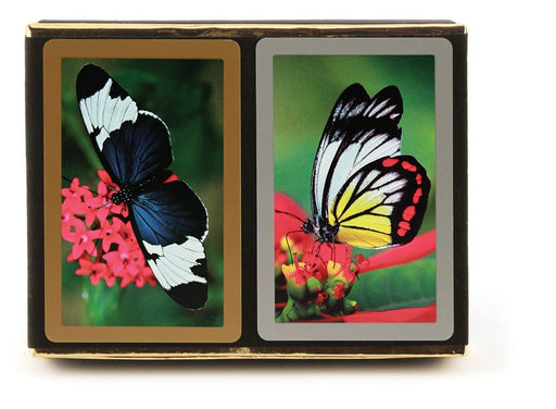 Congress Butterflies Standard Index Bridge Playing Cards - 2 Deck Set